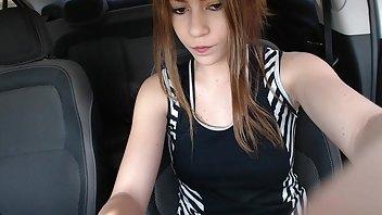 Andreza_, Sweet teen Masturbation in Car & Public Orgasm
